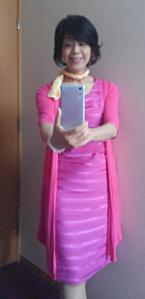 ど派手などピンクの出で立ちです(^_^;)