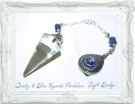 水晶&ブルーカイヤナイトペンデュラム・ライトブリッジ